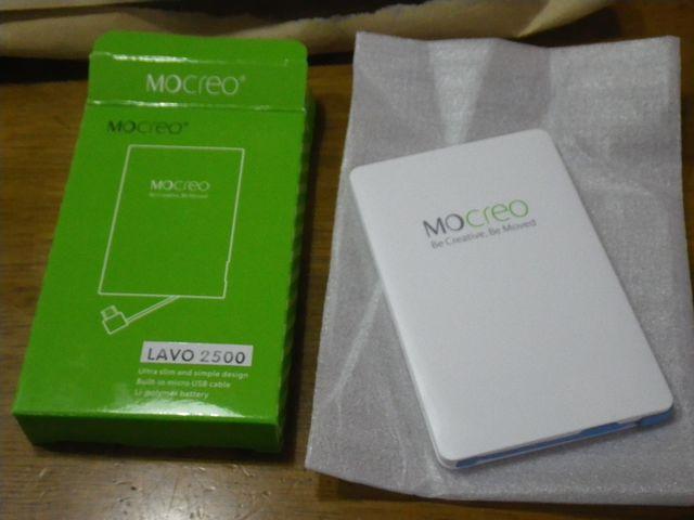 MOCREO® 2500mAhモバイルバッテリー