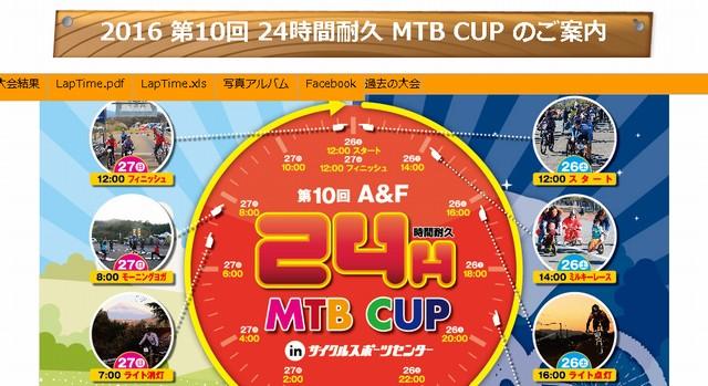 A&F 24時間耐久 MTB CUPin サイクルスポーツセンター