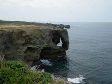 沖縄レンタカー観光2:万座毛
