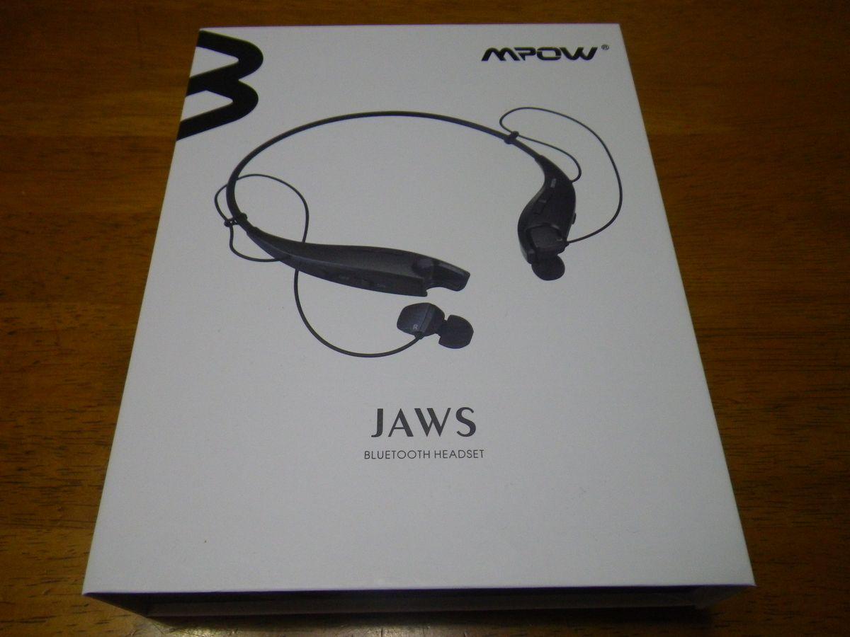 Bluetooth4.1ワイヤレスイヤホン:Mpow Jawsはスタイリッシュで長時間再生!【最大13時間・カッコいい】