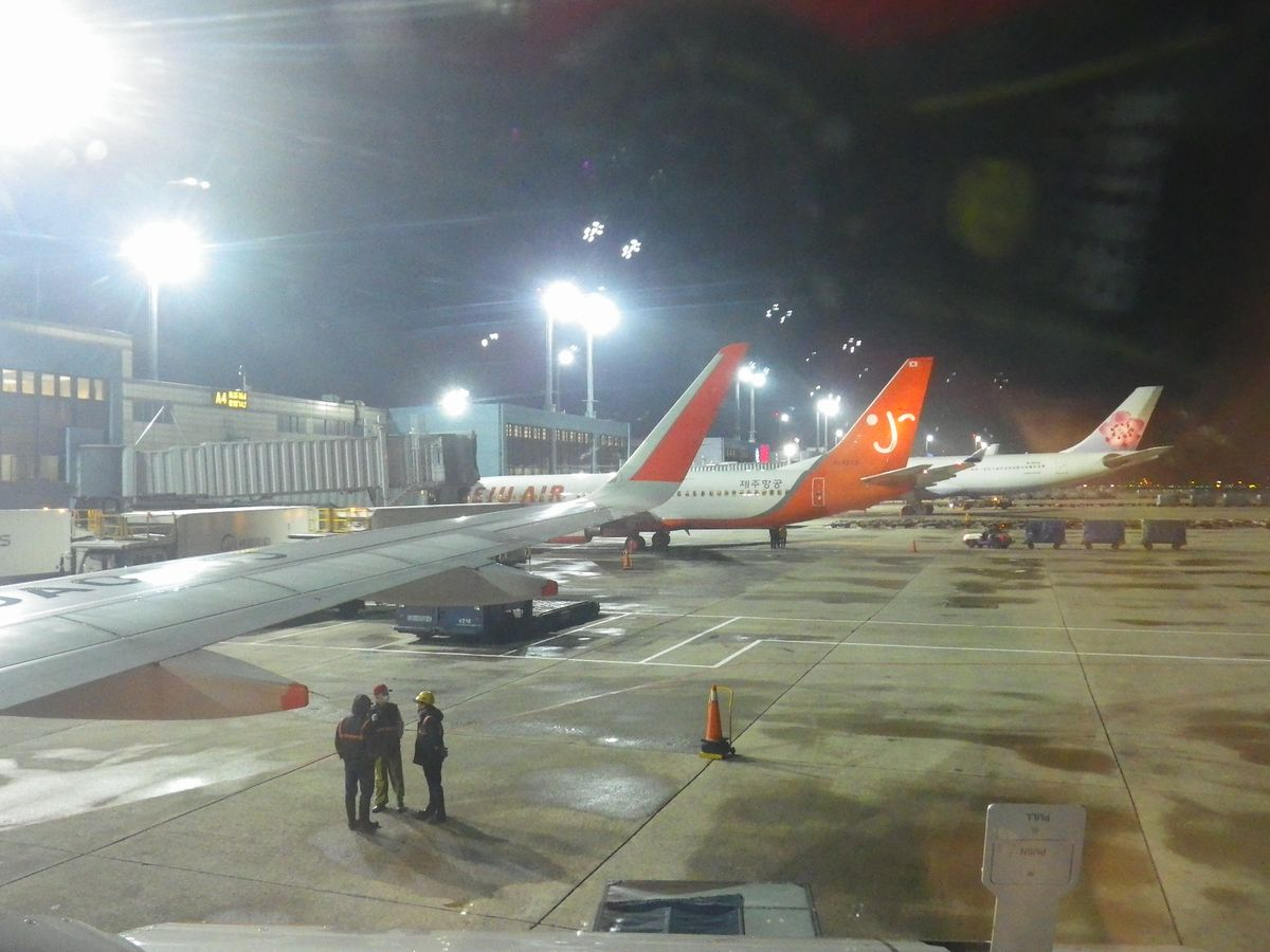 台湾遠征DAY4:台湾桃園国際空港で飛行機輪行してジェットスター成田行搭乗【GK12便】