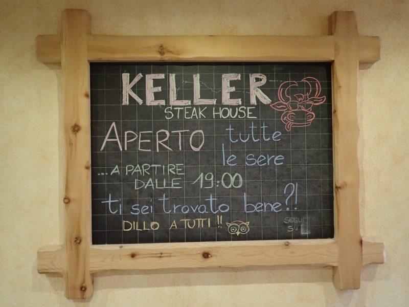 イタリア・ボルミオのステーキレストラン【Keller Steak House】